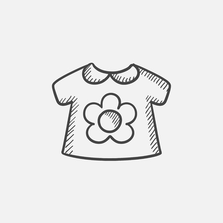 Baby loose jacket sketch icon for web, mobile and infographics. Hand drawn vector isolated icon.