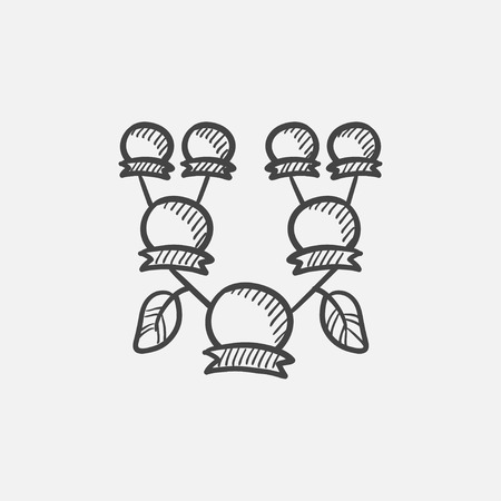 Stammbaum Skizze Symbol für Web, Mobile und Infografiken. Hand gezeichnet Vektor isoliert Symbol. Standard-Bild - 60758932