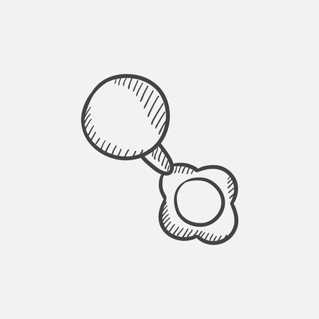 beanbag: Baby rattle sketch icon for web, mobile and infographics. Hand drawn vector isolated icon. Illustration