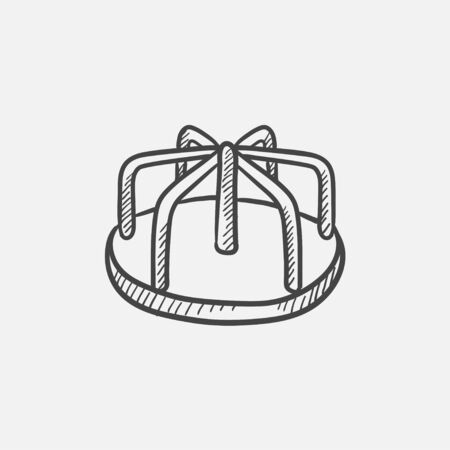 playtime: Merry-go-round sketch icon for web, mobile and infographics. Hand drawn vector isolated icon.
