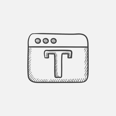 creation of sites: Design editor tool sketch icon for web, mobile and infographics. Hand drawn vector isolated icon. Illustration