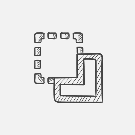 Merge sketch icon for web, mobile and infographics. Hand drawn vector isolated icon.
