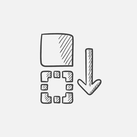 Movement of files sketch icon for web, mobile and infographics. Hand drawn vector isolated icon.