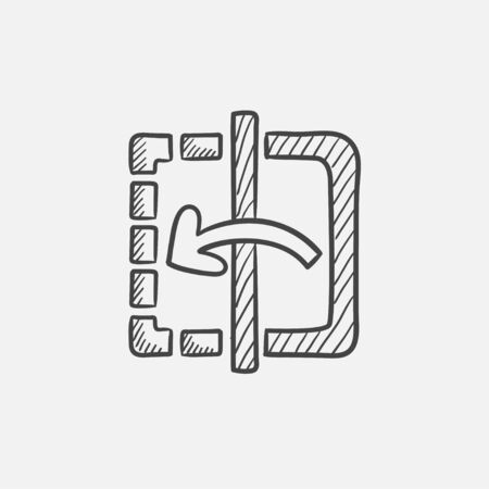 reflection mirror: Mirror reflection sketch icon for web, mobile and infographics. Hand drawn vector isolated icon.