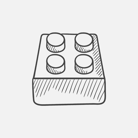 System part sketch icon for web, mobile and infographics. Hand drawn vector isolated icon.