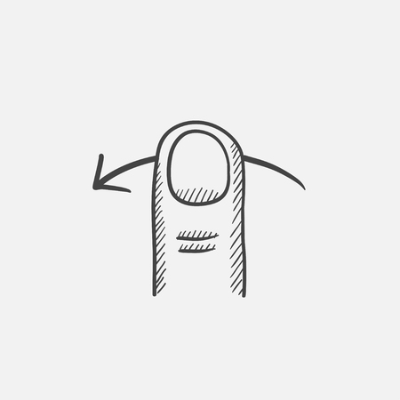 swipe: Swipe left sketch icon for web, mobile and infographics. Hand drawn vector isolated icon.
