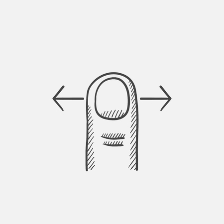 Sscroll sketch icon for web, mobile and infographics. Hand drawn vector isolated icon.  イラスト・ベクター素材