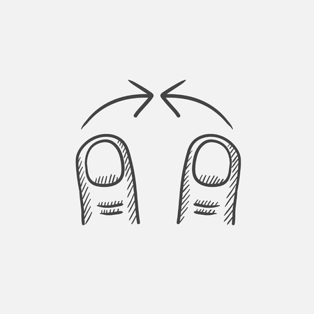 pinch: Pinch sketch icon for web, mobile and infographics. Hand drawn vector isolated icon.