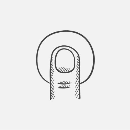 forefinger: Tap sketch icon for web, mobile and infographics. Hand drawn vector isolated icon. Illustration