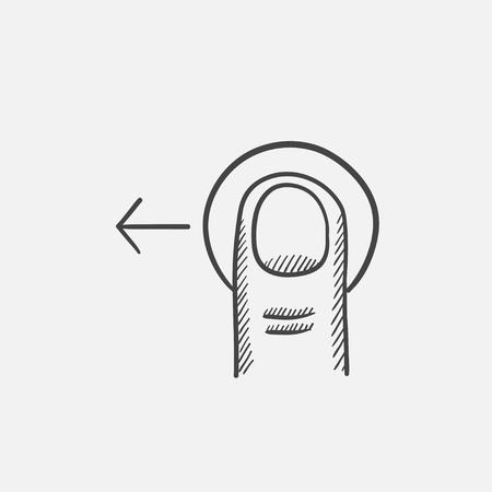 drag: Drag left sketch icon for web, mobile and infographics. Hand drawn vector isolated icon.