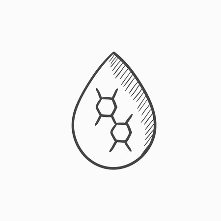 Oil drop vector sketch icon isolated on background. Hand drawn Oil drop icon. Oil drop sketch icon for infographic, website or app.