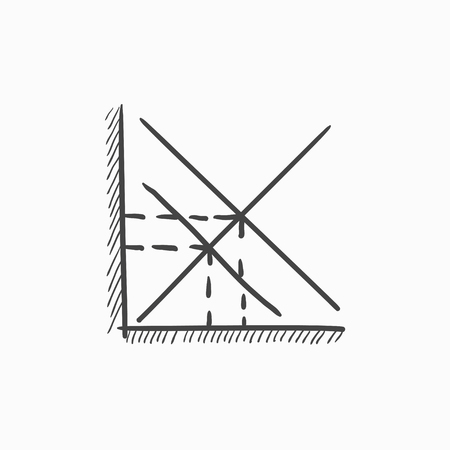 complex system: Mathematical graph vector sketch icon isolated on background. Hand drawn Mathematical graph icon. Mathematical graph sketch icon for infographic, website or app.