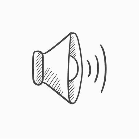 Président vecteur de volume esquisse icône isolé sur fond. Hand drawn Président icône de volume. Président du volume icône esquisse pour infographie, site Web ou application. Banque d'images - 61245106