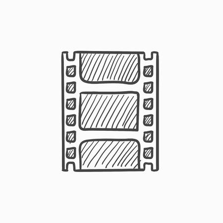 Négatif icône vecteur d'esquisse isolé sur fond. Hand drawn icône négative. Négatif icône esquisse pour infographie, site Web ou application. Banque d'images - 61245407