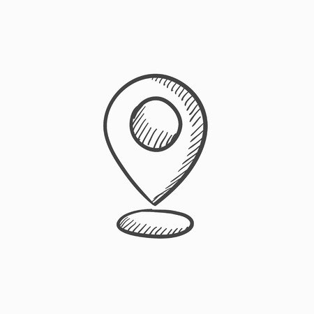 Navigator guide itinerary vector sketch icon isolated on background. Hand drawn Navigator guide itinerary icon. Navigator guide itinerary sketch icon for infographic, website or app. Ilustração