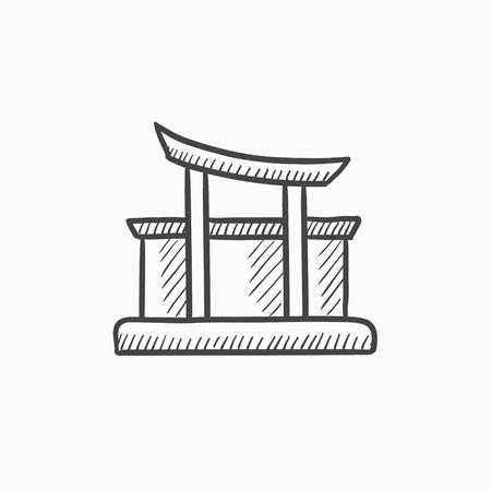 torii gate drawing - 450×450