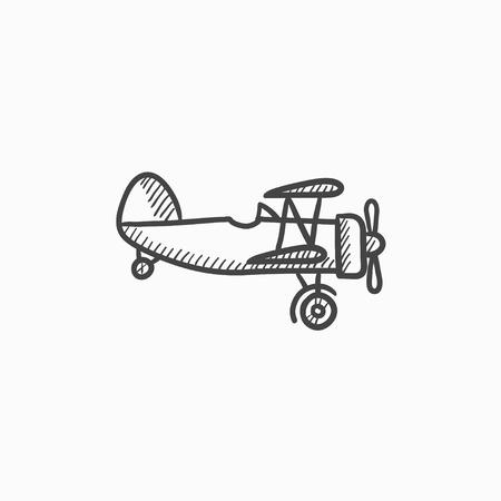 Aereo di elica icona del disegno vettoriale isolato su sfondo. A mano Elica icona del piano. Elica icona dello schizzo aereo per infografica, sito web o un'applicazione. Archivio Fotografico - 61149842