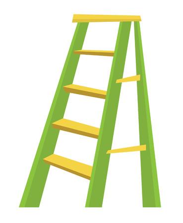 Metallic laddertje kruiwagen vol zand vector platte ontwerp illustratie op een witte achtergrond. Vector Illustratie