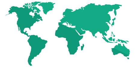 Green political world map vector cartoon illustration isolated 61303038 world map vector flat design illustration isolated on white background gumiabroncs Choice Image