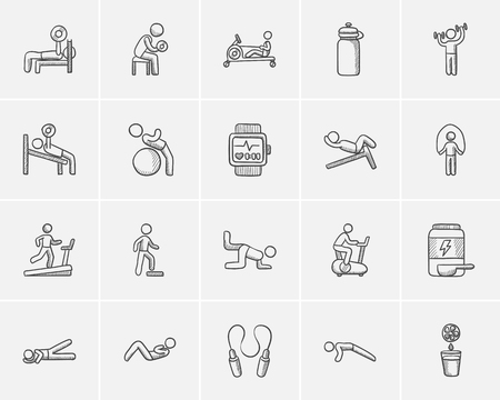 Lifestyle sketch icon set for web, mobile and infographics. Hand drawn lifestyle icon set. Lifestyle vector icon set. Lifestyle icon set isolated on white background. Ilustrace