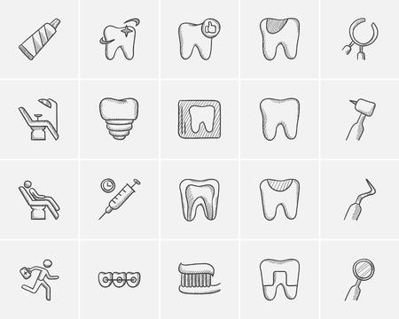 Medicine sketch icon set for web, mobile and infographics. Hand drawn medicine icon set. Medicine vector icon set. Medicine icon set isolated on white background. Illusztráció