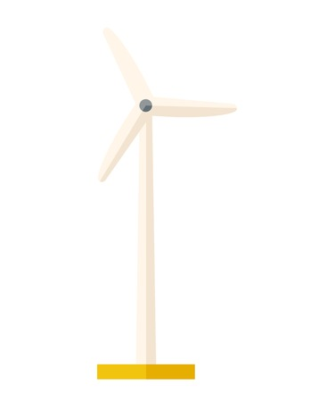 One windmill a energy resources. A Contemporary style. flat design illustration isolated white background. Vertical layout Stock Photo