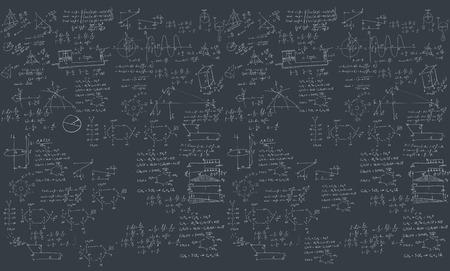 scalar: A blackboard with mechanical formula. A Contemporary style.  flat design illustration isolated black background. Horizontal layout Stock Photo