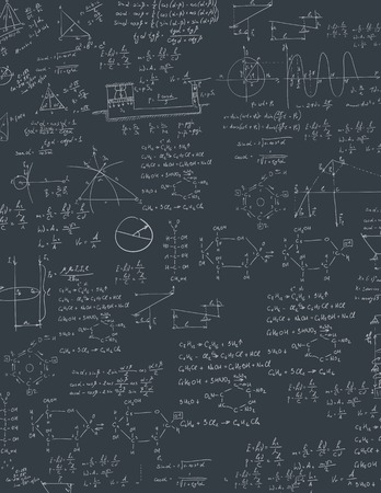 mathematical proof: A blackboard with algebra formula. A Contemporary style.  flat design illustration isolated black background. Vertical layout.