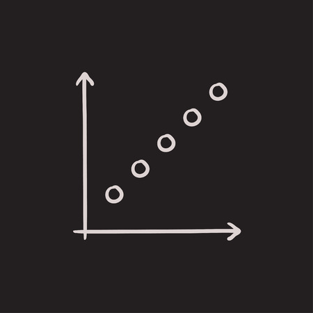 discontinuous: Growth graph vector sketch icon isolated on background. Hand drawn Growth graph icon. Growth graph sketch icon for infographic, website or app.