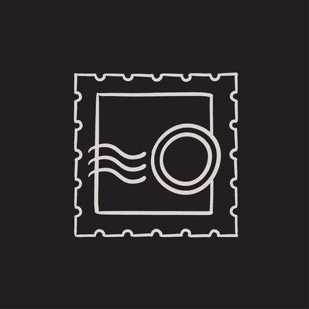 philately: Philately vector sketch icon isolated on background. Hand drawn Philately icon. Philately sketch icon for infographic, website or app.