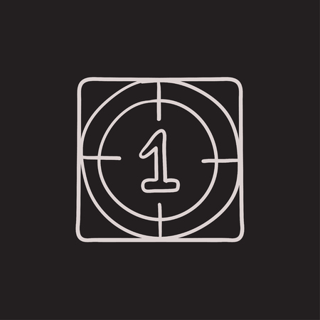 countdown: Countdown vector sketch icon isolated on background. Hand drawn Countdown icon. Countdown sketch icon for infographic, website or app.