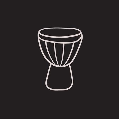 rhythm rhythmic: Timpani vector sketch icon isolated on background. Hand drawn Timpani icon. Timpani sketch icon for infographic, website or app.
