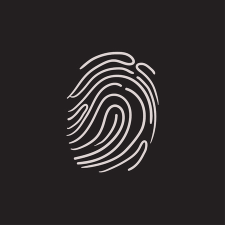 Fingerprint vector sketch icon isolated on background. Hand drawn Fingerprint icon. Fingerprint sketch icon for infographic, website or app. Stock fotó - 63446671