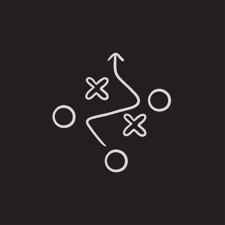 tactical: Tactical plan vector sketch icon isolated on background. Hand drawn Tactical plan icon. Tactical plan sketch icon for infographic, website or app. Illustration