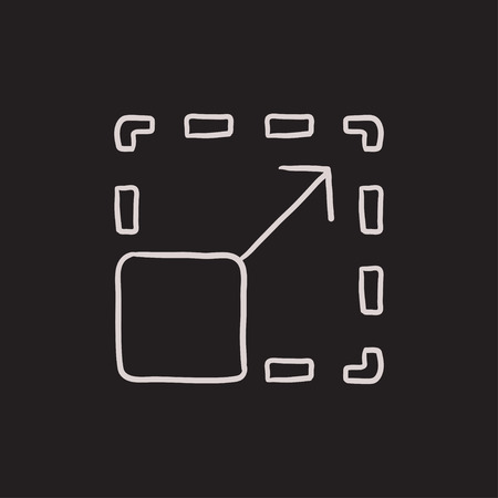 image size: Scalability vector sketch icon isolated on background. Hand drawn Scalability icon. Scalability sketch icon for infographic, website or app.