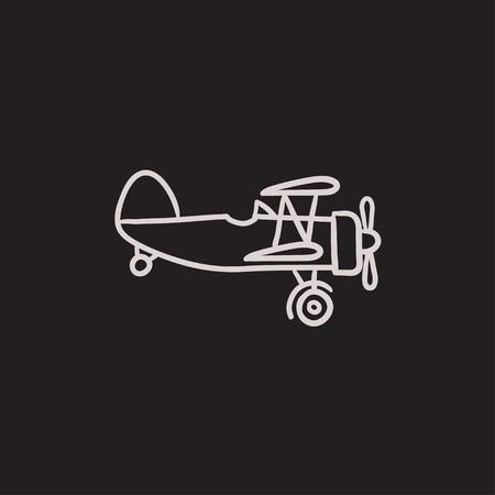 Aereo di elica icona del disegno vettoriale isolato su sfondo. A mano Elica icona del piano. Elica icona dello schizzo aereo per infografica, sito web o un'applicazione. Archivio Fotografico - 63800050