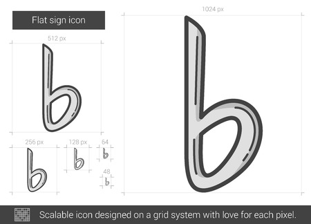 scalable: Flat sign vector line icon isolated on white background. Flat sign line icon for infographic, website or app. Scalable icon designed on a grid system.