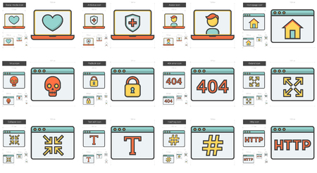 Application vector line icon set isolated on white background. Application line icon set for infographic, website or app. Scalable icon designed on a grid system.