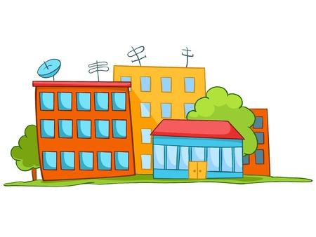 Cartoon Illustration House. Illustration Isolated on White Background.