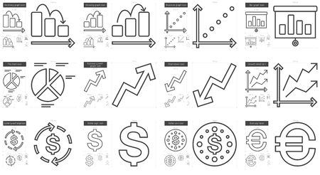 scalable: Business vector line icon set isolated on white background. Business line icon set for infographic, website or app. Scalable icon designed on a grid system.