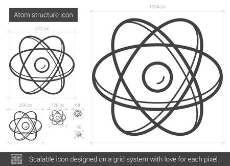 Atom structure vector line icon isolated on white background atom structure vector line icon isolated on white background atom structure line icon for infographic ccuart Image collections