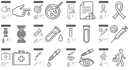 eye pipette: Medicine vector line icon set isolated on white background. Medicine line icon set for infographic, website or app. Scalable icon designed on a grid system.