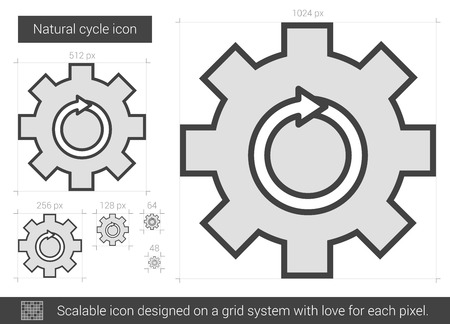 Natural cycle vector line icon isolated on white background. Natural cycle line icon for infographic, website or app. Scalable icon designed on a grid system. 版權商用圖片 - 66674516
