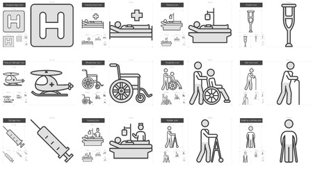 intravenous: Medicine vector line icon set isolated on white background. Medicine line icon set for infographic, website or app. Scalable icon designed on a grid system.