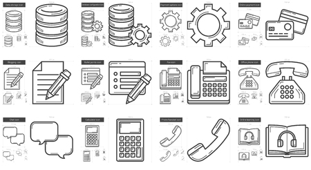 storage device: Technology vector line icon set isolated on white background. Technology line icon set for infographic, website or app. Scalable icon designed on a grid system.