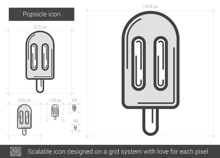 vector line icon isolated on white background.  line icon for infographic, website or app. Scalable icon designed on a grid system.
