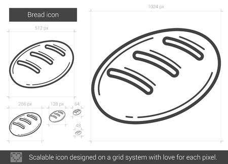 パン ベクトル線のアイコンが白い背景で隔離。インフォ グラフィック、ウェブサイトまたはアプリ スケーラブルなアイコンのパン線アイコンのグ
