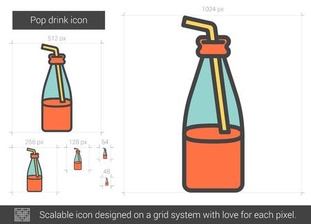 Icône de ligne pop boisson vecteur isolé sur fond blanc. Icône de ligne de boisson gazeuse pour infographie, site Web ou application. Icône évolutive conçue sur un système de grille. Banque d'images - 67784712