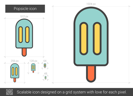 Ice vector line icon isolated on white background. Ice line icon for infographic, website or app. Scalable icon designed on a grid system.