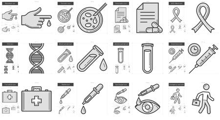 Medicine vector lijn icon set op een witte achtergrond. Medicine lijn icon set voor infographic, website of app. Schaalbaar pictogram ontworpen op een grid-systeem.